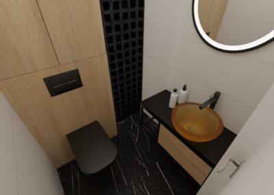 projektanci wnętrz toaleta z bursztynowa umywalka1a Toaleta z bursztynową umywalką