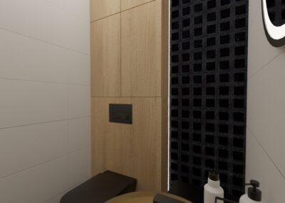 projektanci wnętrz toaleta z bursztynowa umywalka1b Toaleta z bursztynową umywalką