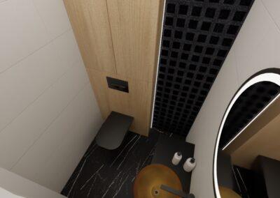 projektanci wnętrz toaleta z bursztynowa umywalka1c Toaleta z bursztynową umywalką