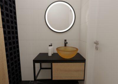 projektanci wnętrz toaleta z bursztynowa umywalka1d Toaleta z bursztynową umywalką
